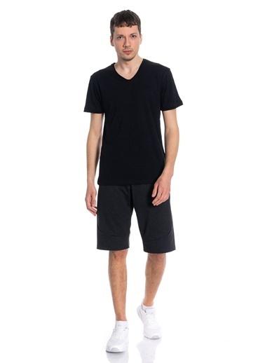 Slazenger Slazenger SET Erkek T-Shirt  Siyah